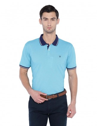 Allen Solly aqua solid slim fit t-shirt