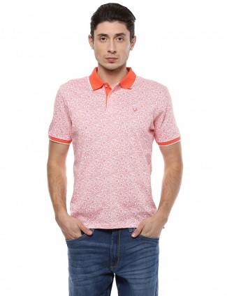 Allen solly orange color cotton t-shirt