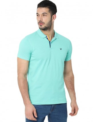 Allen Solly slim fit aqua solid t-shirt