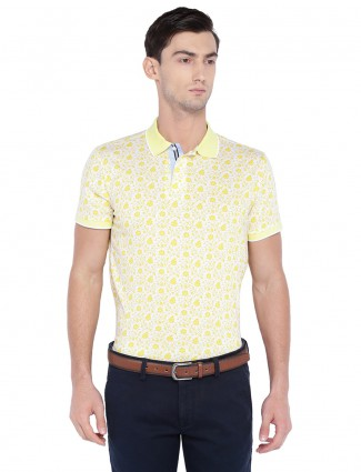 Allen solly yellow hue cotton t-shirt