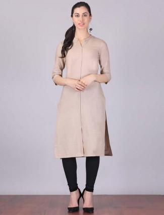 Aurelia cotton fabric beige color kurti