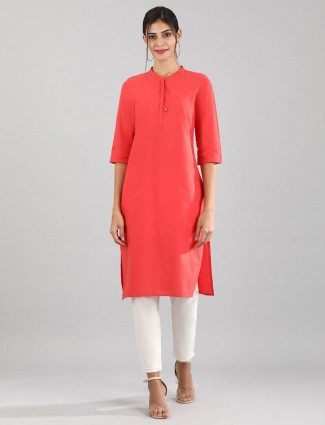 Aurelia solid red sober look kurti