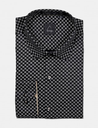 Avega black printed cotton shirt