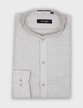 Avega cream hue solid pattern shirt