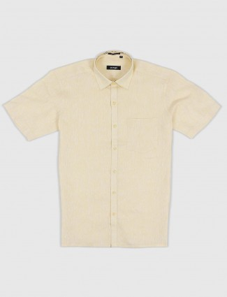 Avega lemon yellow cotton shirt