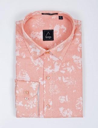 Avega pink printed cotton farbic shirt