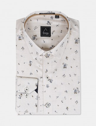 Avega presented cream printed shirt