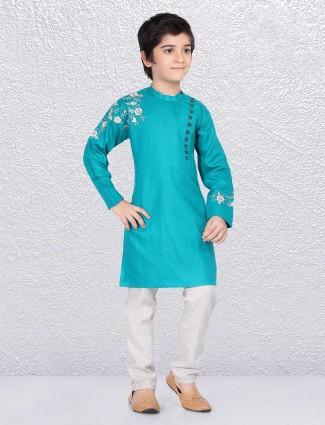 Awsome aqua green kurta suit
