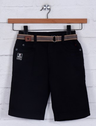 Bad Boys black slim fit cotton casual short