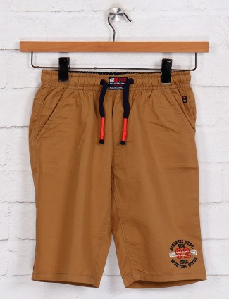Bad Boys brown solid boys short