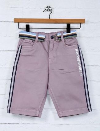 Bad Boys slim fit violet solid short