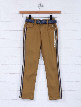 Bad Boys solid brown slim fit jeans