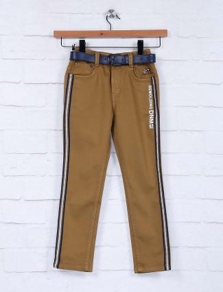 Bad Boys solid brown slim fit jeans