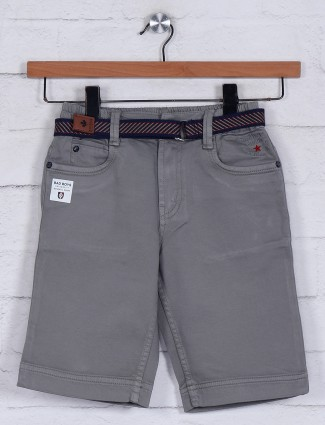 Bad Boys solid grey cotton short