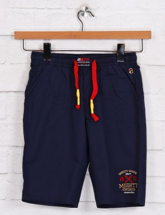 Bad Boys solid navy cotton short in casual