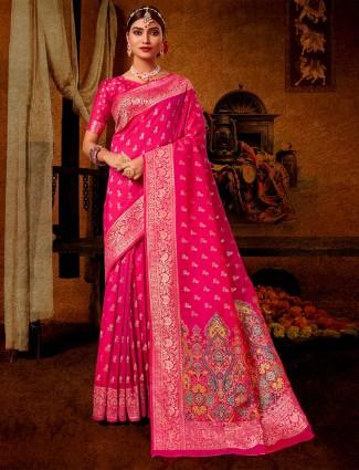 Banarasi silk grey wedding saree
