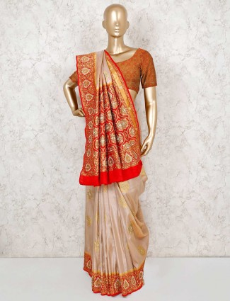 Banarasi silk wedding pink saree