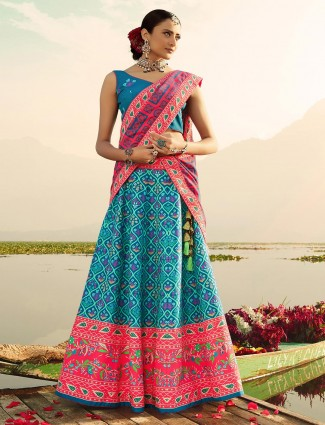 Beautiful blue festive wear readymade lehenga choli