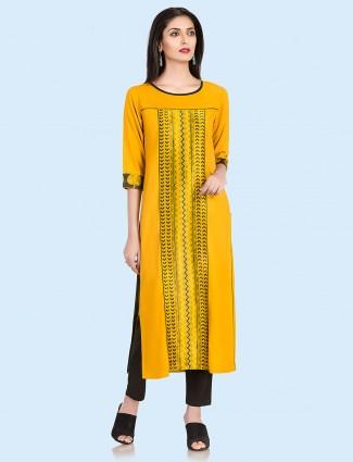 Beautiful orange color cotton kurti