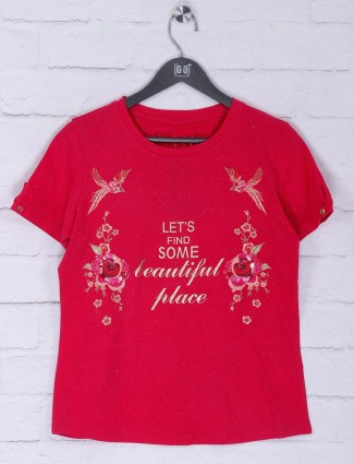 Beautiful red color cotton top
