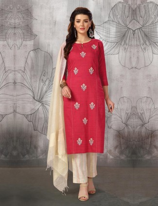 Beautiful red color punjabi salwar suit