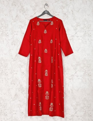 Beautiful red cotton kurti