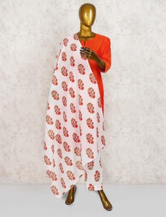Beautiful red cotton punjabi salwar suit