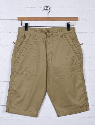 Beevee presented solid khaki hue shorts