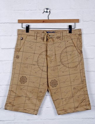 Beevee printed khaki color shorts
