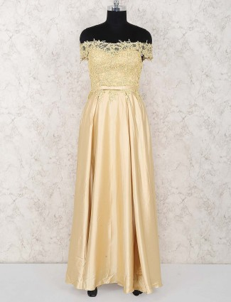 Beige hue party lovely gown
