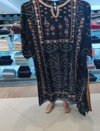 Black cotton kurti for festive function