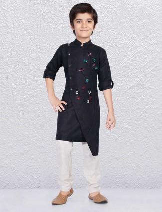 Navy Blue designer kurta suit for festive