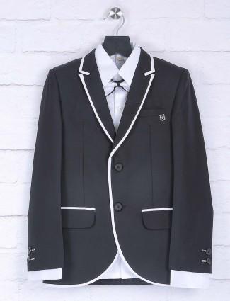 Black hue designer boys tuxedo suit