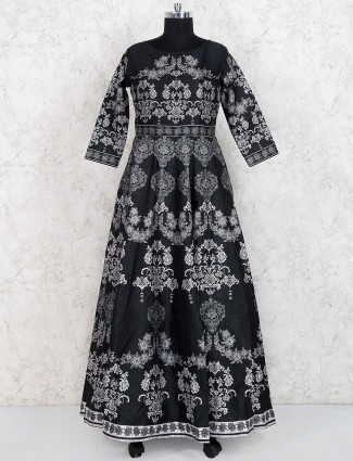 Black hue party wear gown