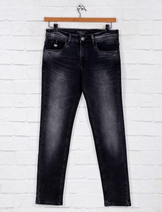 Black washed slim fit denim jeans