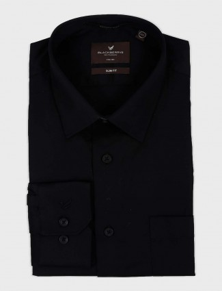 Blackberry jet black solid shirt