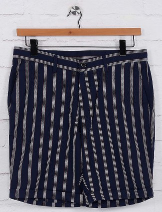 Blackberrys navy hued stripe shorts