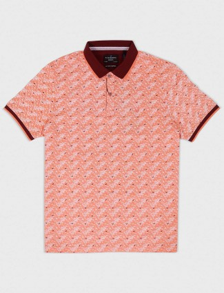 Blackberrys peach hue printed t-shirt