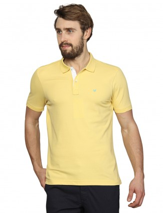Blackberrys solid yellow colored t-shirt