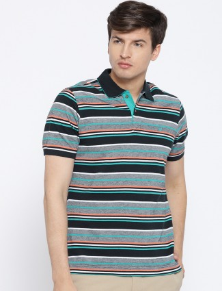 Blackberrys stripe grey hued cotton t-shirt
