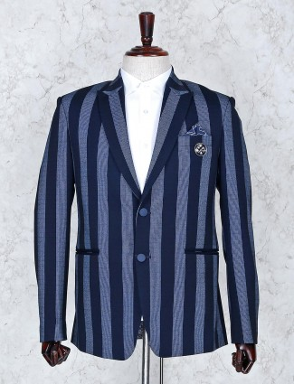 Blazer in stripe pattern navy color
