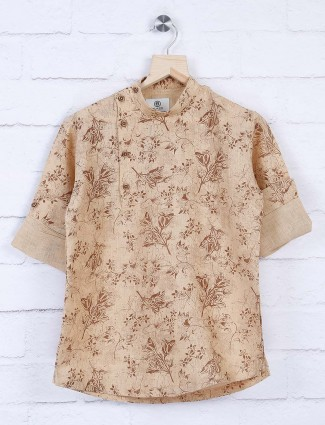 Blazo beige color designer shirt