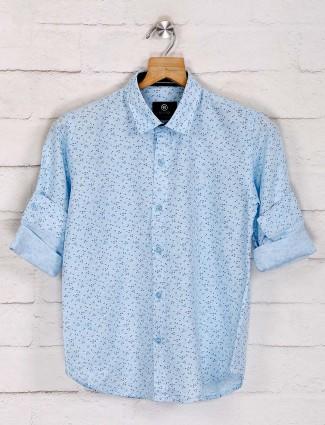 Blazo light blue printed shirt
