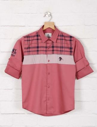 Blazo pink checks casual wear shirt