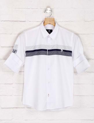 Blazo stripe white full sleeves shirt