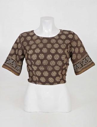 Block print readymade designer blouse in cotton