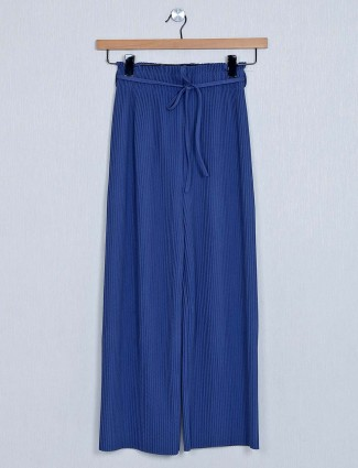 Blue palazzo in poly cotton