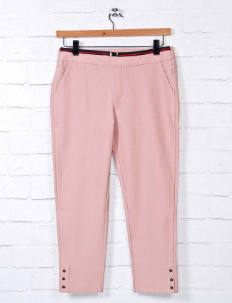 Boom baby pink jeggings for casual