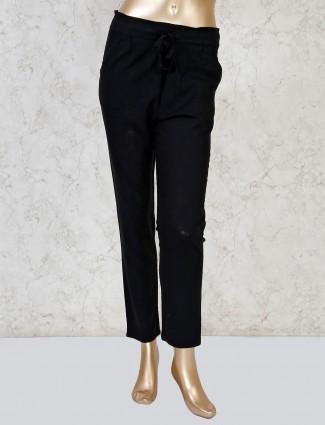 Boom black linen payjama