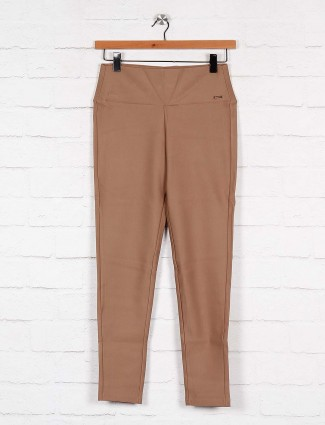 Boom cotton khaki hue jeggings